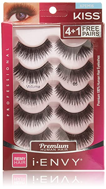 92bb3de83c4 Amazon.com : i.Envy by Kiss Eye Lash Value Pack #KPEM16 : Beauty