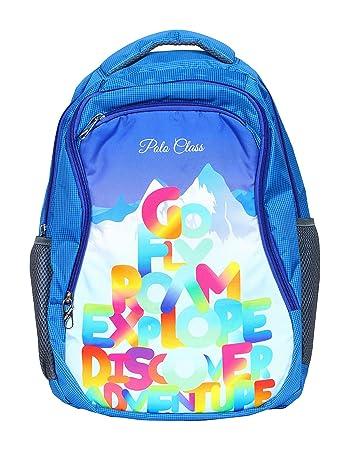 87ece77642e2 POLO CLASS Fabric 25 Liters Blue School Bag (BNB-PC21)  Amazon.in  Bags
