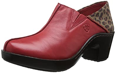 Ariat Gorgeous Red Suede Slip-on Comfort Clogs Size 7 Clothing, Shoes & Accessories