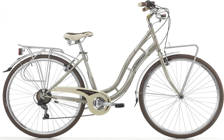 Bicicleta Cicli Cinzia Charleston para mujeres, cuadro de acero, 6 ...