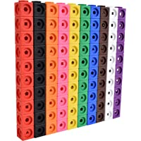 edxeducation Math Cubes - Set of 100 - Linking Cubes For Early Math - Connecting Manipulative For Preschoolers Aged 3…