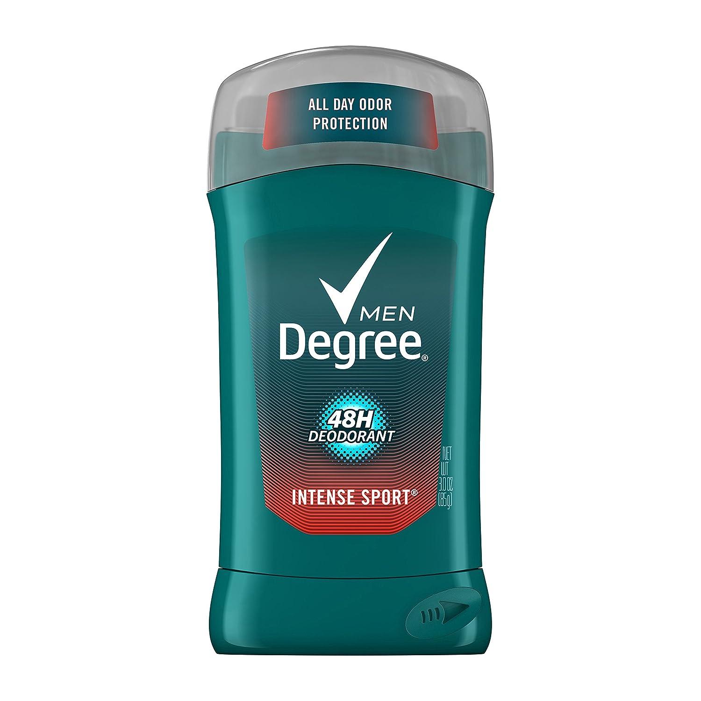 Intense Sport Deodorant Stick Silver Ion by Degree for Men - 3 oz Deodorant Stick, 6 count 10079400013429