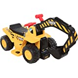 Wonderlanes 6V Ride on Lil Backhoe, Battery Powered Toys, Yellow, Black, Red, 22.4 x 14.2 x 18.1""