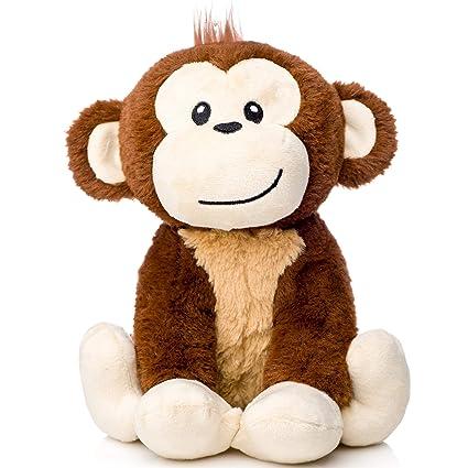 04a04376de0e Amazon.com: earthMonkeys Monkey Stuffed Animal   Cutest Stuffed Monkey Plush  for Kids   Great Gift for Any Registry or Baby Shower!: Toys & Games