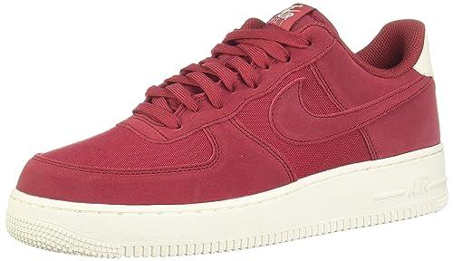 new style c8bbf a6646 Nike Air Force 1  07 Suede, Scarpe da Ginnastica Basse Uomo, Multicolore Red