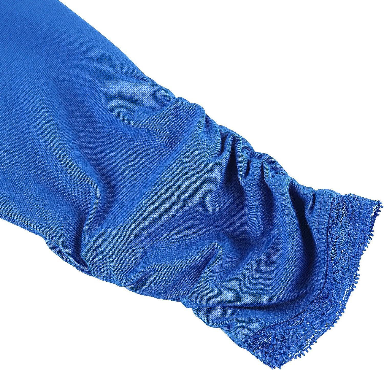 Bienzoe Ragazze Knit Cotone Allungare Uniforme Scolastica 3 Leggings Pacco