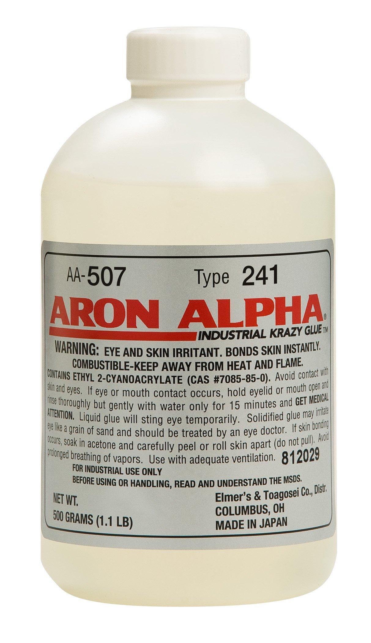 Aron Alpha Type 241 (40 cps) Regular Set Instant Adhesive 500 g (1.1 pound) Bottle