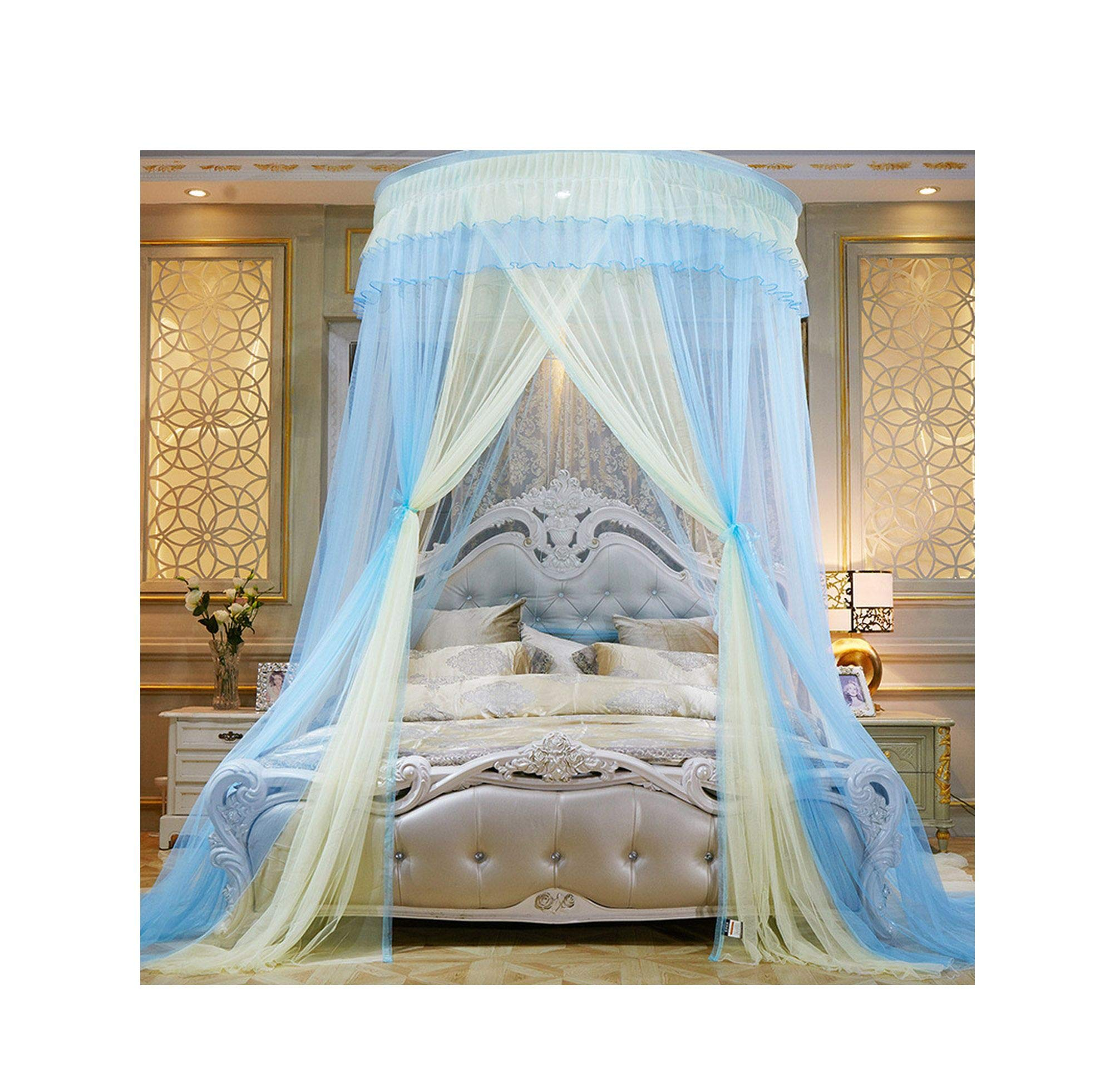 FAT BABY Colorful Mosquito Net Princess Insect Net Single-Door Hung Dome Bed Canopies Netting Round Mosquito Net Commonly Used,5