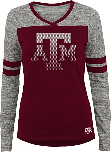 7-9 Team Color NCAA Clemson Tigers Juniors Outerstuff Secret Fan Long Sleeve Football Tee Medium