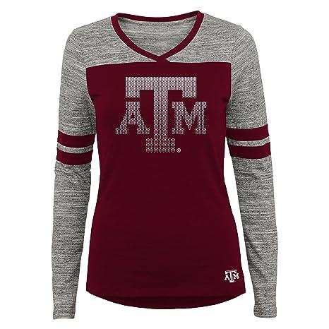 11-13 Team Color Large NCAA Texas A/&M Aggies Juniors Outerstuff Secret Fan Long Sleeve Football Tee