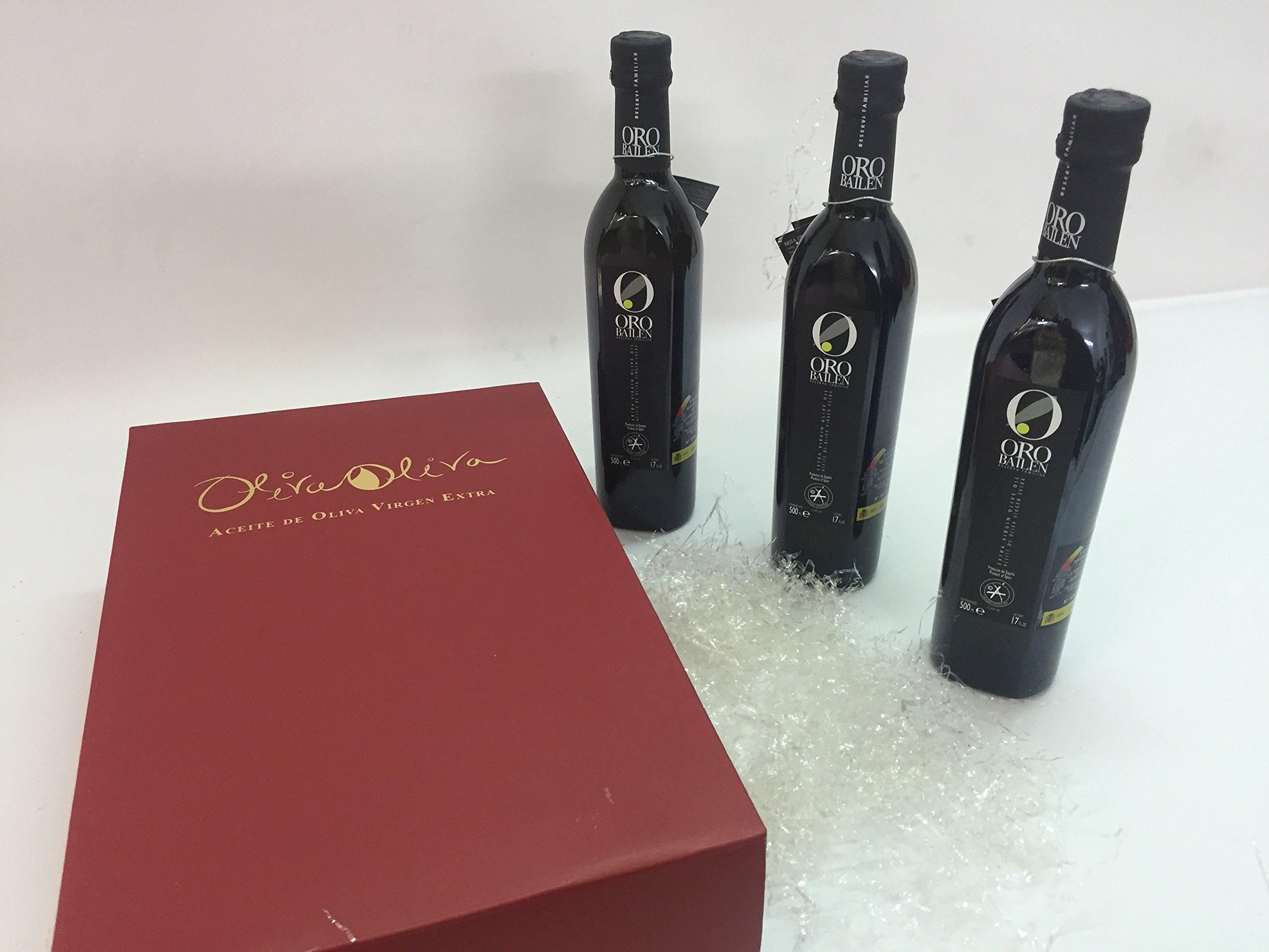3 bottles Oro Bailen Family Reserve - Extra Virgin Olive Oil, New Harvest 2017, 17-Ounce / 500 ml by Oro Bailen (Image #2)