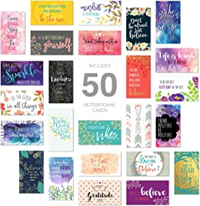 Inspirational Quote Cards/Business Card Size / 50 Positivity Cards