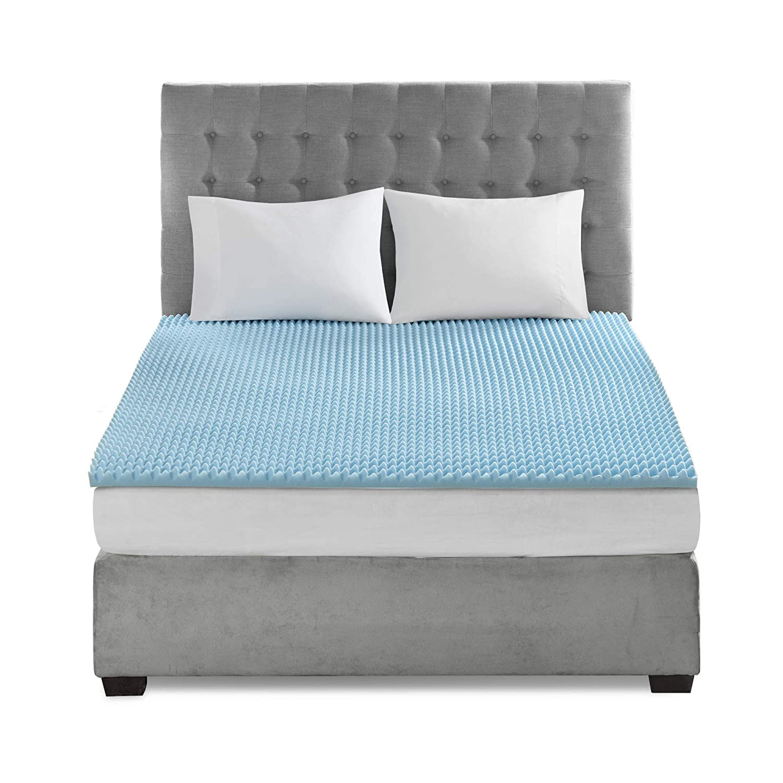Flexapedic by Sleep Philosophy Gel Memory Foam Mattress Topper Cooling Bed Cover