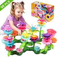 Umwon Toys for 3-7 Year Old Girls , Flower Garden Building Toys with 98 PCS Preschool Educational Toys Set for Preschool Toddlers Playset STEM Toy Arts and Crafts, Gifts for 4-8 Year Old Girls