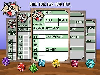 Personalizar tu propio RPG Fantasía Hoja de personaje ...