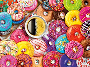 Buffalo Games - Aimee Stewart - Coffee and Donuts - 1000 Piece Jigsaw Puzzle