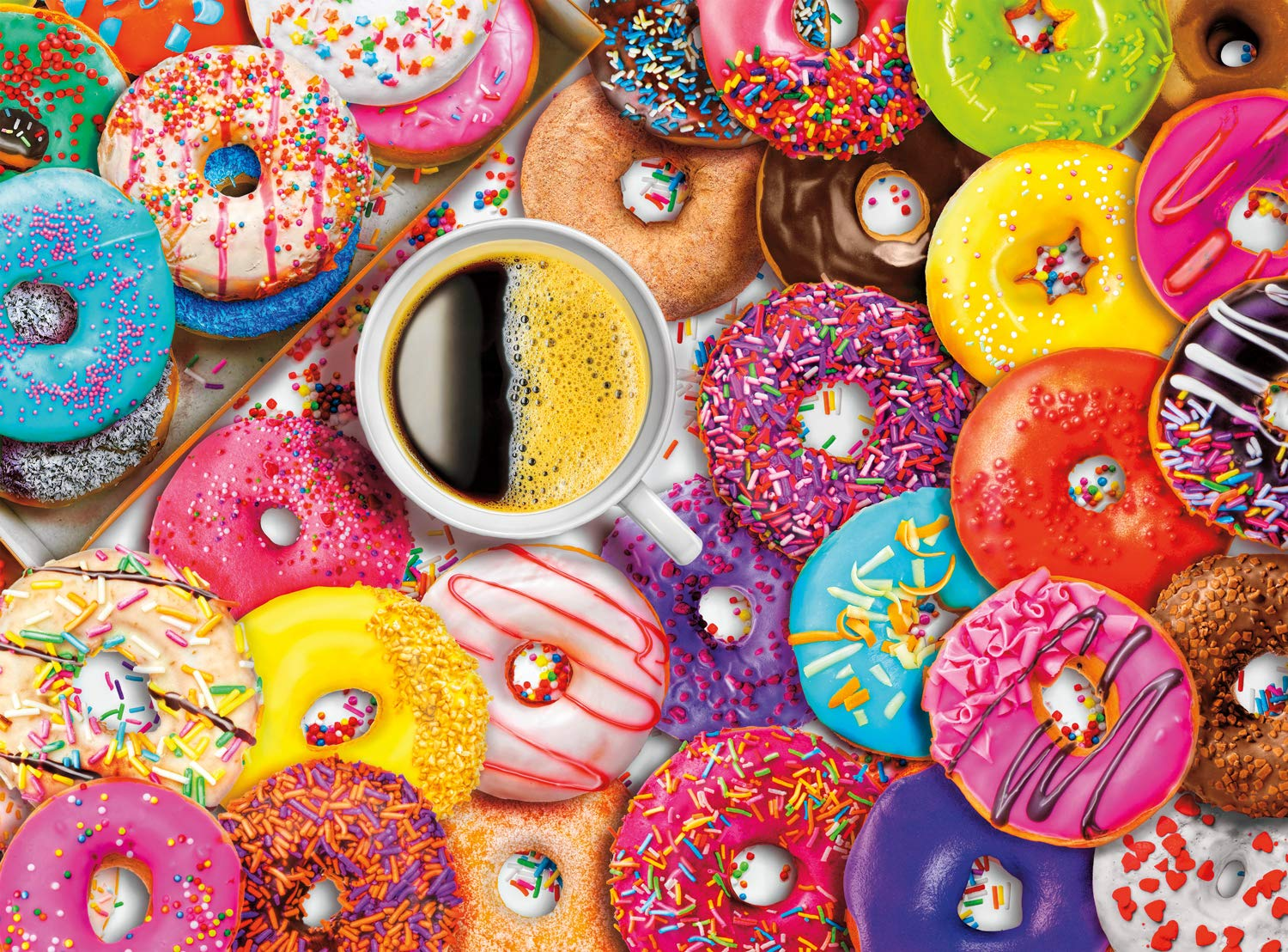 Coffee and Donuts Signature Collection Buffalo Games 1000 Piece Jigsaw Puzzle