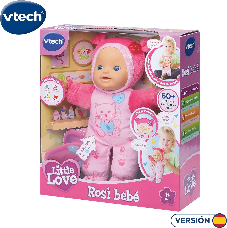 Amazon.es: VTech - Rosi bebé, Little Love - Muñeca interactiva ...