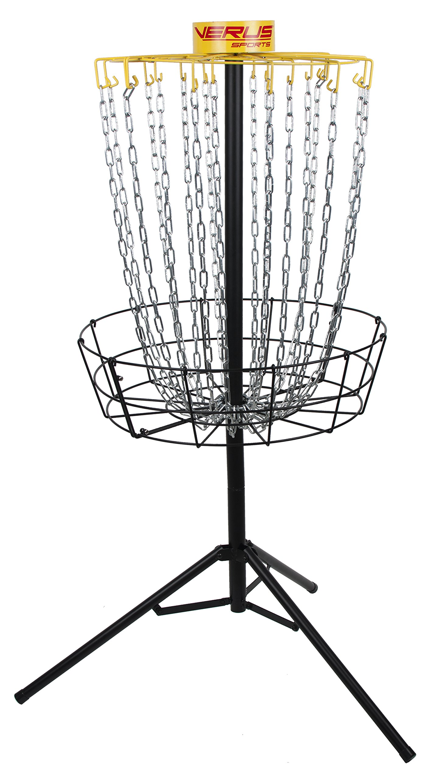 Verus Sports TG460 Regulation Expert Disc Golf Basket, Yellow