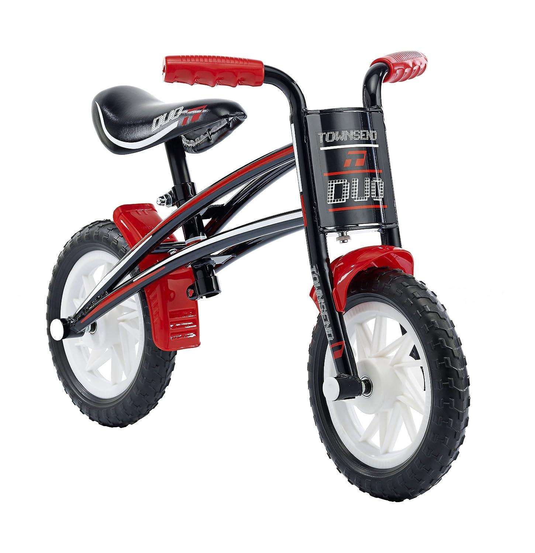Townsend Duo Jungen Kinder Fahrrad schwarz/rot 1 Speed Pannensichere Reifen bequeme Ergonomische Griff