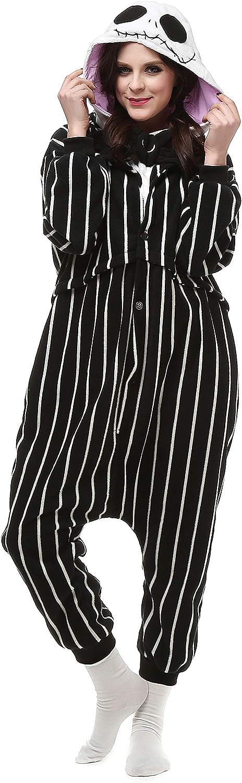 Pijamas Enteros Cosplay Adulto Ropa de Dormir Hombre Camisones Disfraces Carnaval Ropa Pijamas de Una Pieza Mujer Esqueleto