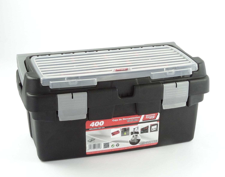 450 450 x 285 x 250 mm. Tayg Caja herramientas pl/ástico aluminio n