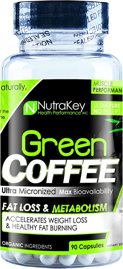 Amazon Com Nutrakey Green Coffee Bean Capsules 90 Count Health