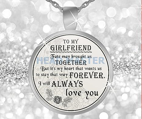 amazon com girlfriend gifts pendant necklace to my girlfriend