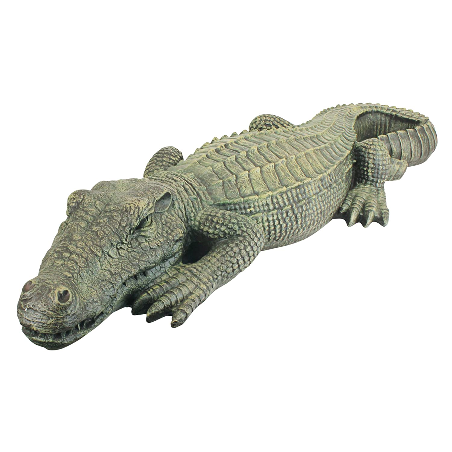 Amazon com design toscano the swamp beast lawn alligator crocodile garden sculpture 37 inch polyresin full color outdoor statues garden outdoor