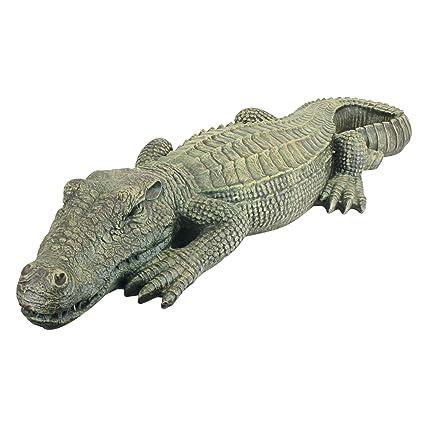 Charmant Design Toscano The Swamp Beast Lawn Alligator Crocodile Garden Sculpture,  37 Inch, Polyresin,