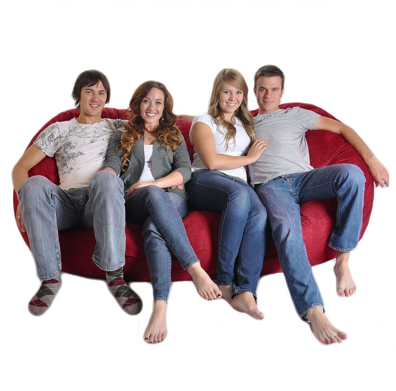 Amazon.com: SLACKER Sack 8 Feet Foam Microsuede Beanbag Chair Lounger,  Giant, Charcoal Gray: Kitchen U0026 Dining