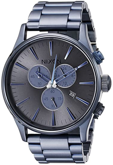 Nixon Reloj Cronógrafo de Cuarzo para Hombre con Correa de Acero Inoxidable - A3861679-00: Nixon: Amazon.es: Relojes