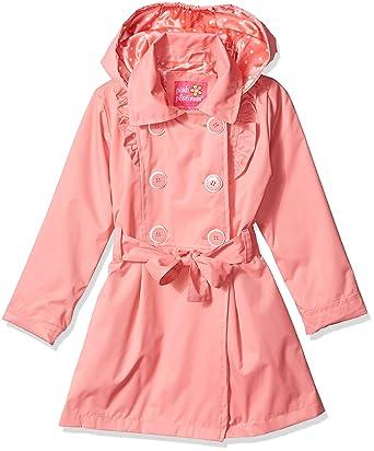 892ae3f118d27 Amazon.com  Pink Platinum Girls  Ruffled Trench Coat with Waist Belt ...
