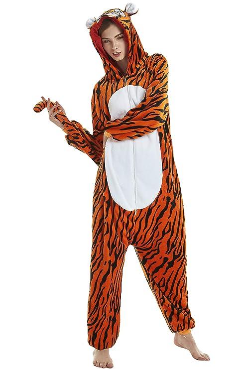 7b3ad1d4 Dolamen Adulto Unisexo Onesies Kigurumi Pijamas, Mujer Hombres Traje  Disfraz Animal Pyjamas, Ropa de
