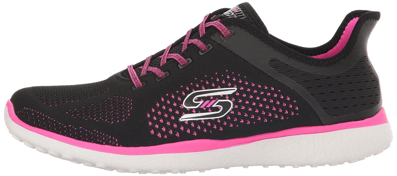 Skechers Sport Women's Microburst Supersonic Fashion Sneaker B01J8157YK 6.5 B(M) US Black/Hot Pink