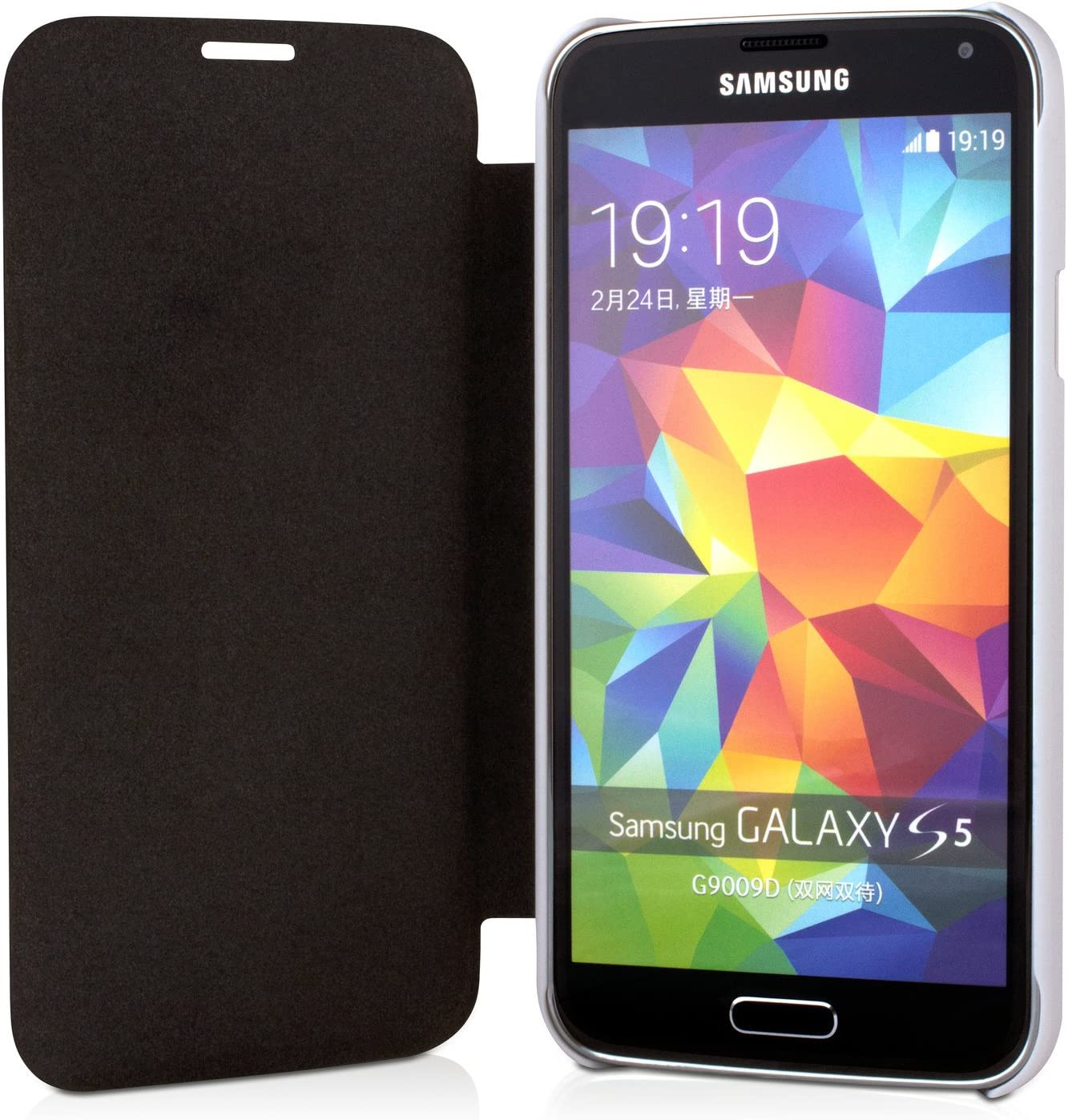 V7 PCS-5FC-WHT-14E - Funda con solapa para Samsung Galaxy S5 ...