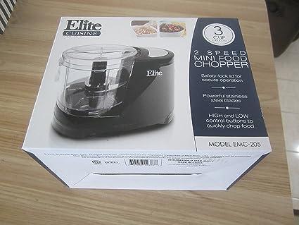 Amazon.com: Elite Cuisine 2 Speed Mini Food Chopper EMC-205: Home ...
