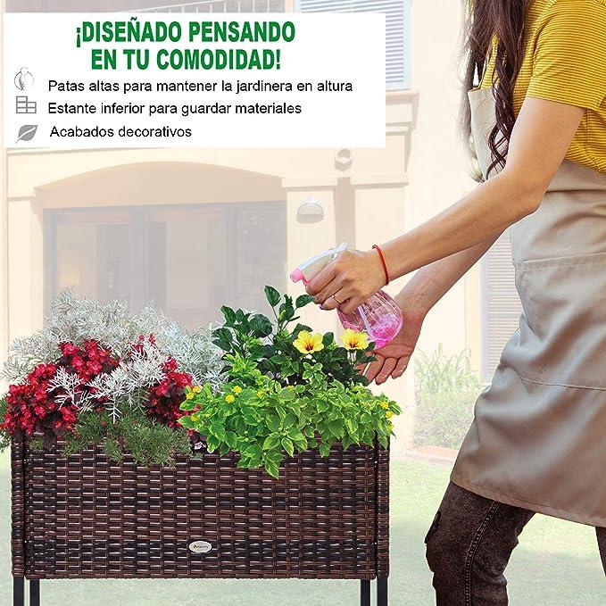 Outsunny Jardinera Exterior para Huerto Urbano Jardinera ...