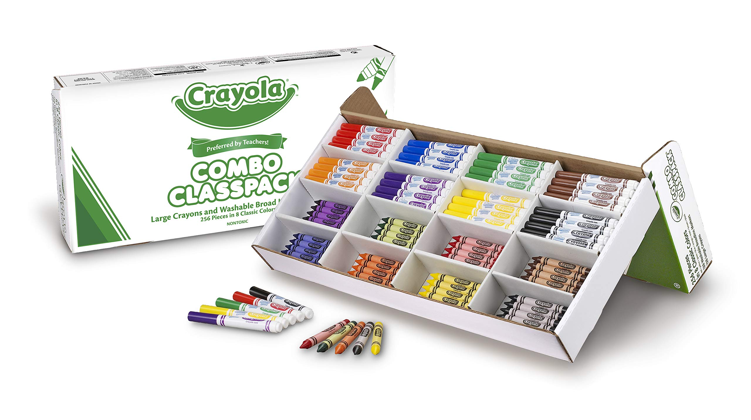 Crayola 256ct. Large Size Crayons & Ultraclean Washable Markers (52-3348) by Crayola (Image #2)