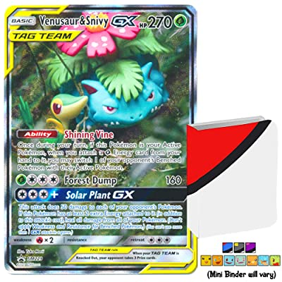 Totem World Bundle Venusaur & Snivy GX Tag Team Generations Promo SM229 Ultra Rare Holo Pokemon Card with a Totem Mini Binder Collectors Album: Toys & Games