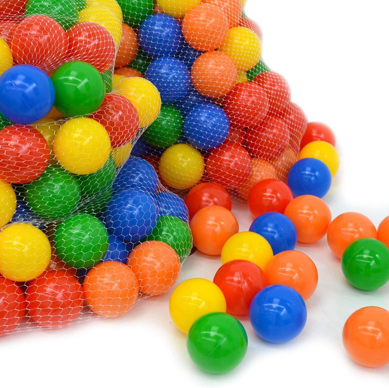 LittleTom 100 Bolas de Color Ø7cm Piscinas de niño Mezcla de 5 Colores