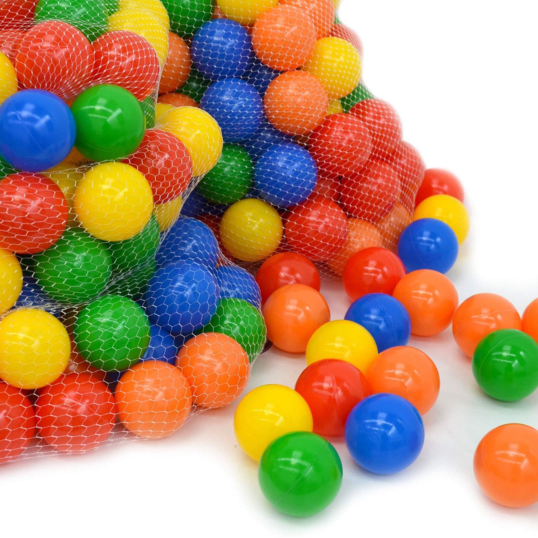 LittleTom 100 Gewerbe Bällebad Bälle Ø 7cm Kinder Spielbälle Plastikbälle Bunt Omnideal