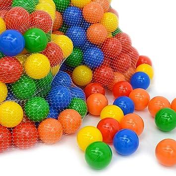 LittleTom 1000 Bolas de Colores Ø 7cm Extra Durable para Piscina ...
