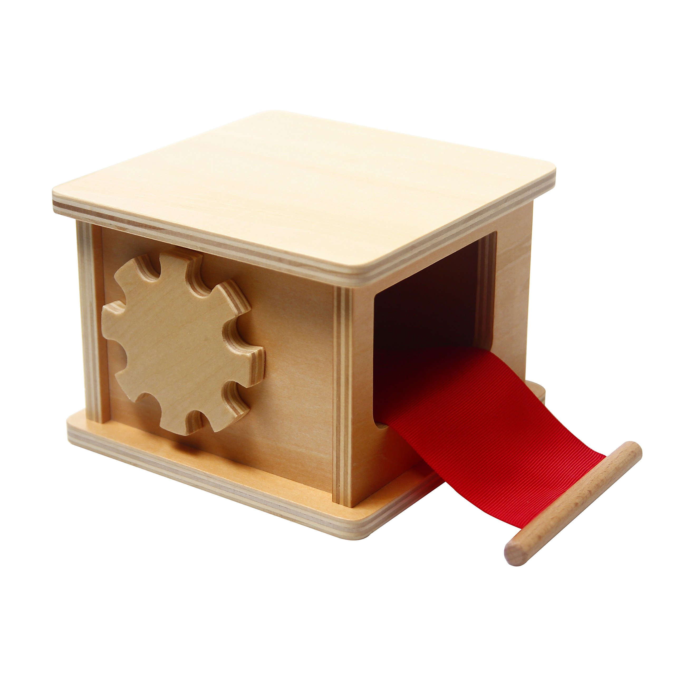 LEADER JOY Montessori Materials Wooden Winder for Preschool Early Learning Tool