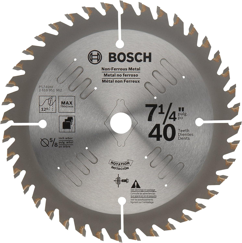 Bosch PS740NF 7 1//4 40T TCG Non-Ferrous Blade