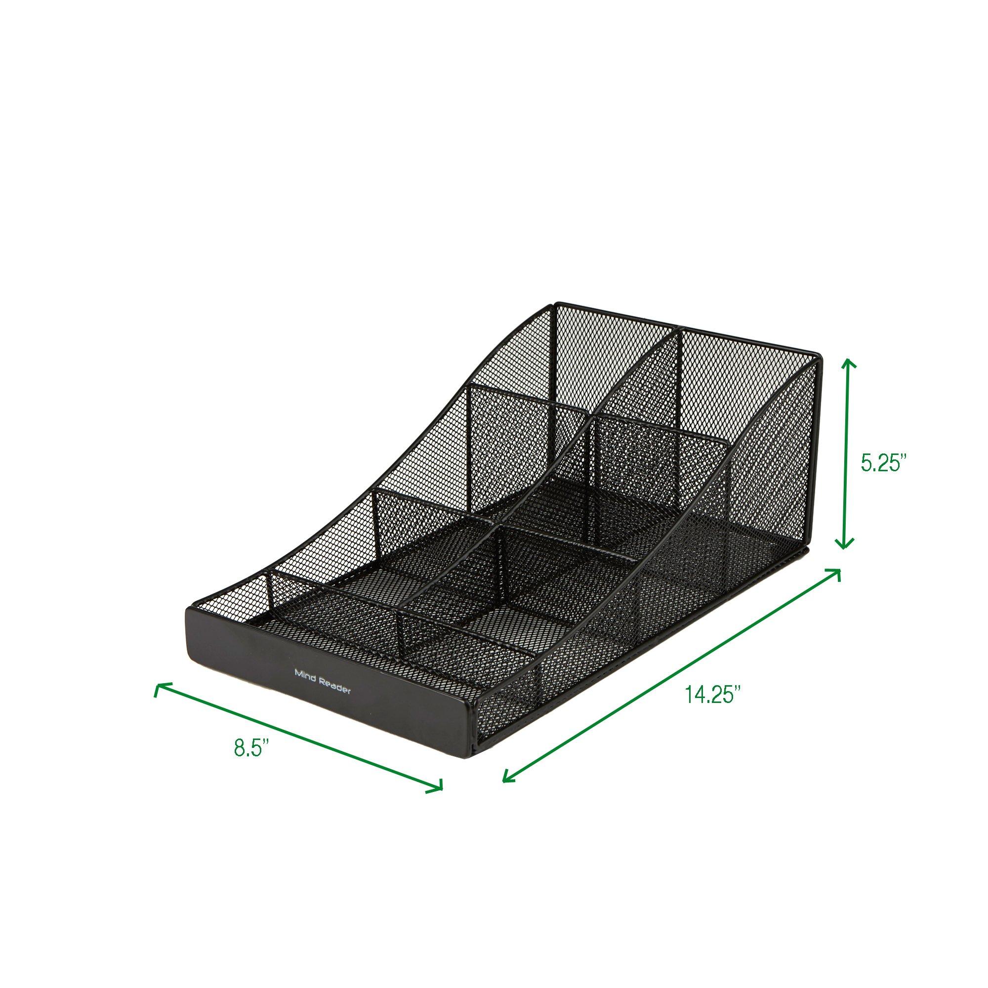 Mind Reader COMP7MESH-BLK Condiment Organizer Storage, Black Metal Mesh by Mind Reader (Image #6)