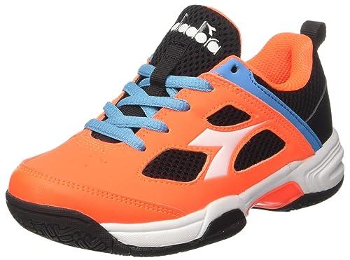 Diadora S. Fly Jr, Zapatillas de Tenis para Niños, Naranja (Arancio Nero), 31.5 EU: Amazon.es: Zapatos y complementos