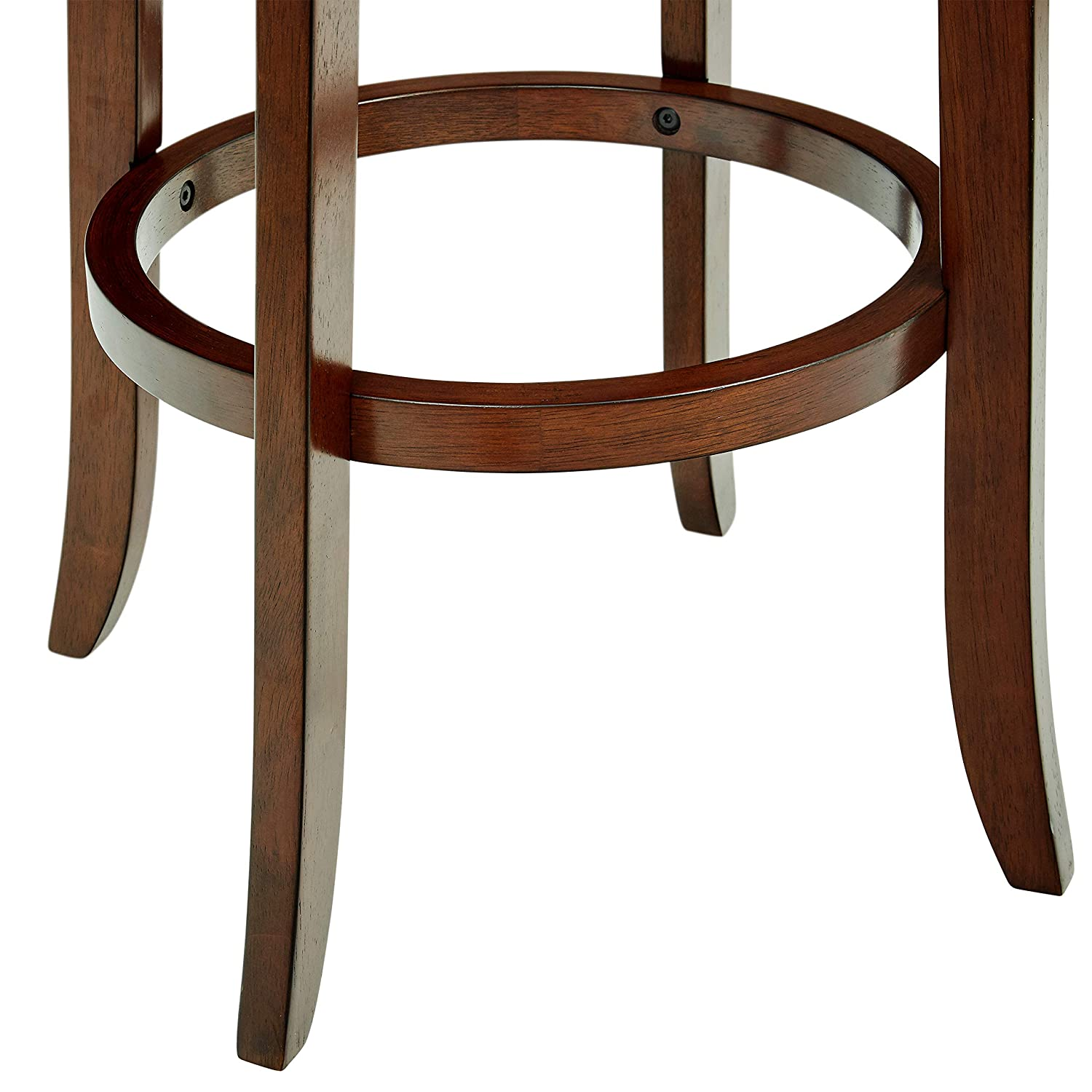 Ravenna Home Rosalind Swivel Ladder Back Bar Stool, 43.6 H, Cherry