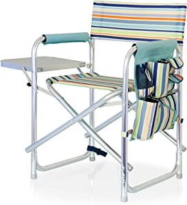ONIVA - a Picnic Time brand Portable Folding Sports Chair, St. Tropez Stripe
