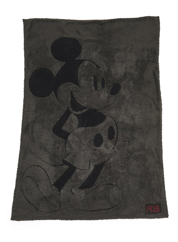 Barefooot Dreams ベアフットドリームス コージーチック クラシック ディズニー ミッキー ミニー ブランケット CozyChic Classic Mickey Mouse Blanket Carbon/Black [並行輸入品] B07DXVVPS7 CarbonBlack